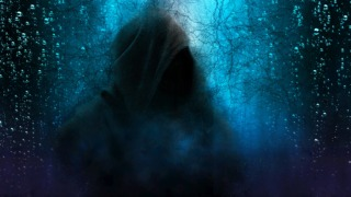 hooded man, mystery, scary